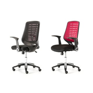 Modrest Diplomat Modern Black and Red Office Chair