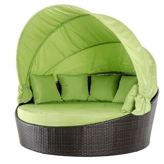 Renava Demi Lune Outdoor Green Round Bed