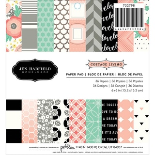 Pebbles Paper Pad 6inX6in 36/PkgCottage Living