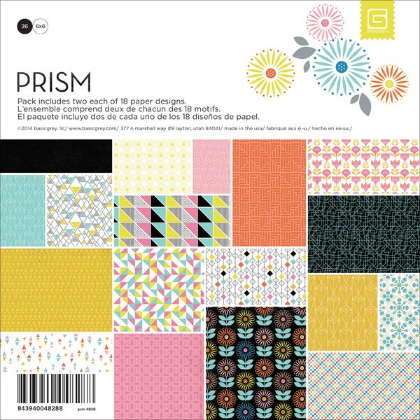 Basic Grey Paper Pad 6inX6in 36/PkgPrism