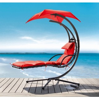 Renava Bahama Modern Red Metal Dream Chair