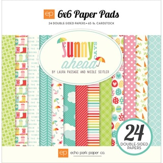 Echo Park DoubleSided Paper Pad 6inX6in 24/PkgSunny Days Ahead
