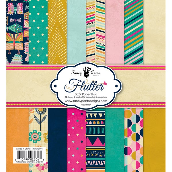Fancy Pants Designs Paper Pad 6inX6in 32/Pkg Flutter
