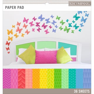 K&Company Basics 12inX12in Paper Pad 36/PkgBrights, 12 Designs/3 Each