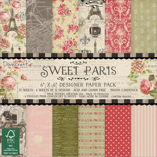 Trimcraft Paper Pack 6inX6in 72/PkgSweet Paris