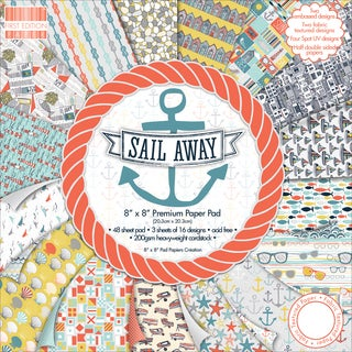First Edition Premium Paper Pad 8inX8in 48/PkgSail Away