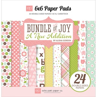 Echo Park DoubleSided Paper Pad 6inX6in 24/PkgBundle Of Joy/A New Addition Baby Girl