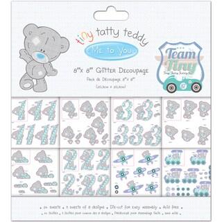 Tiny Tatty Teddy Decoupage Pad 8inX8in 24/PkgBoy