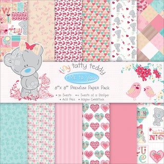 Trimcraft Paper Pack 8inX8in 48/PkgTiny Tatty Teddy Girl