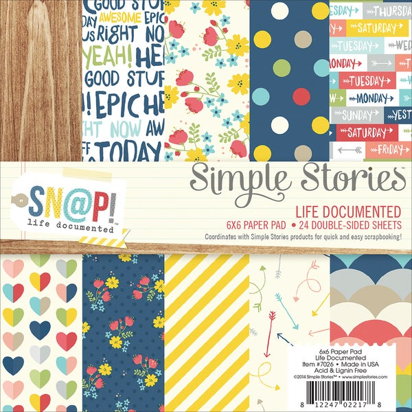 Simple Stories Paper Pad 6inX6in 24/PkgSn@p! Life Documented