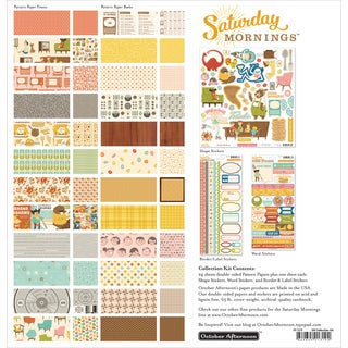 October Afternoon Collection Kit 12inX12inSaturday Mornings
