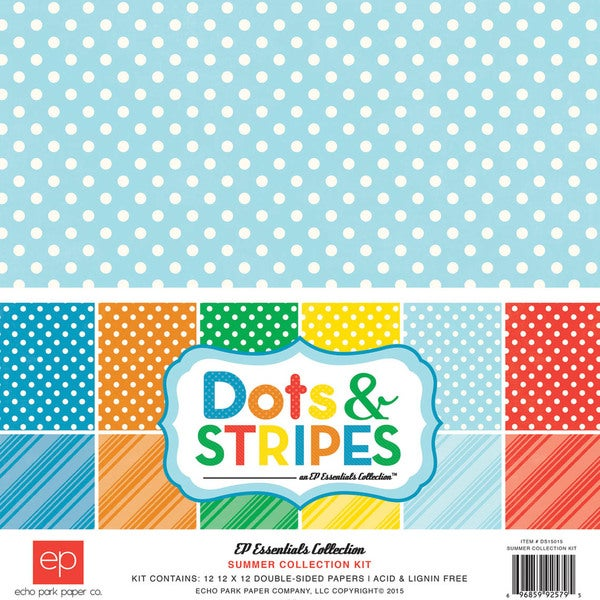 Echo Park Collection Kit 12inX12inSummer Dots & Stripes