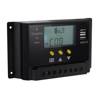 Patuoxun LCD 30A PWM Solar Panel Regulator Controller with Dual USB
