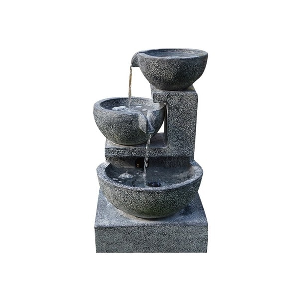 Solar Cascading Bowl Fountain with Water Pump Kit