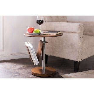 Baxton Studio Piante Walnut Accent Table with Magazine Holder