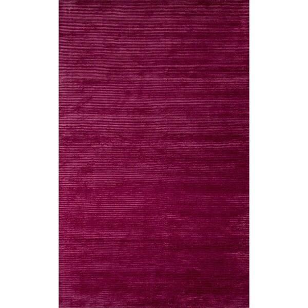 Formal Solid Pattern Boysen berry/Boysen berry Wool 5' x 8' Area Rug 15456622