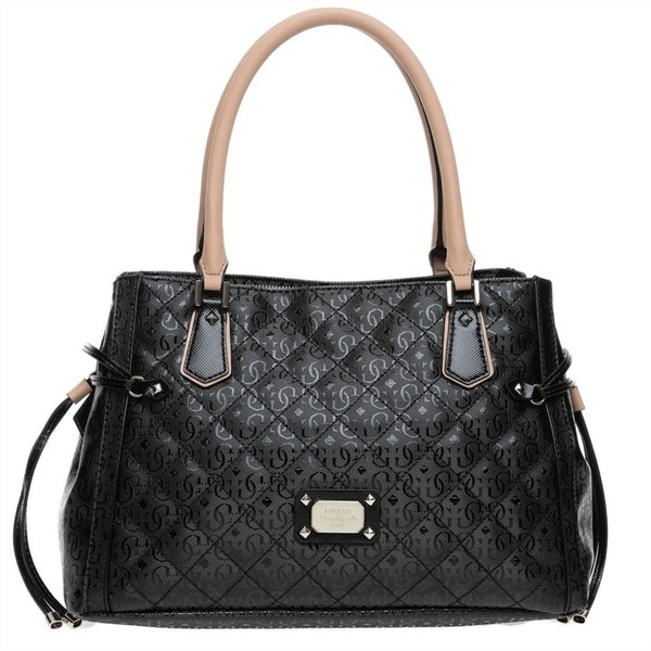 Guess Juliet Black Satchel Handbag