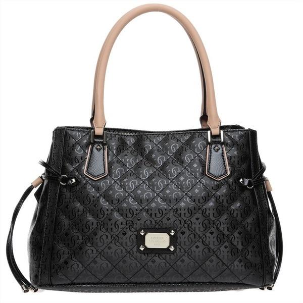 Guess Juliet Black Satchel Handbag