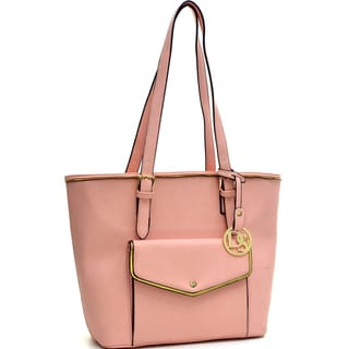 Dasein Faux Leather Envelope Front Tote Bag