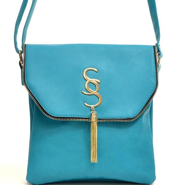 Dasein Gold-Tone Tassel Messenger Bag