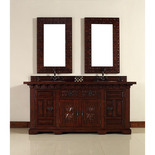 James Martin Antique Brown 72-inch Double Bathroom Vanity