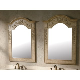 James Martin Pair of Riviera Beige 32-inch Mirrors