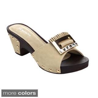 Radiant Orlean-38 Women's Slip On Studs Platform Sandals