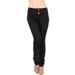 Sexy Couture Women's S45-ps Mid Rise Skinny Jeans