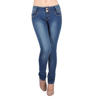 Sexy Couture Women's S46ps Mid Rise Skinny Jeans