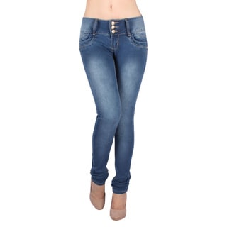 Sexy Couture Women's S47ps Mid Rise Skinny Jeans