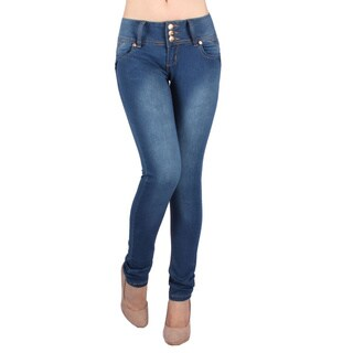 Sexy Couture Women's S48ps Mid Rise Skinny Jeans