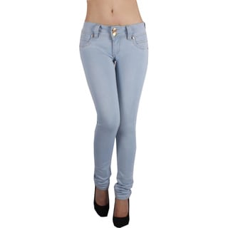 Sexy Couture Women's S51ps Mid Rise Skinny Jeans