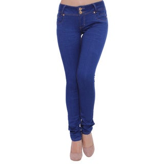 Sexy Couture Women's S70-ps Mid Rise Skinny Jeans