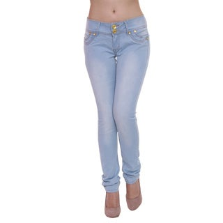 Sexy Couture Women's S74-ps Mid Rise Skinny Jeans