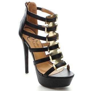 Shake Amanda Women's Cage Back Zipper Stiletto Heels