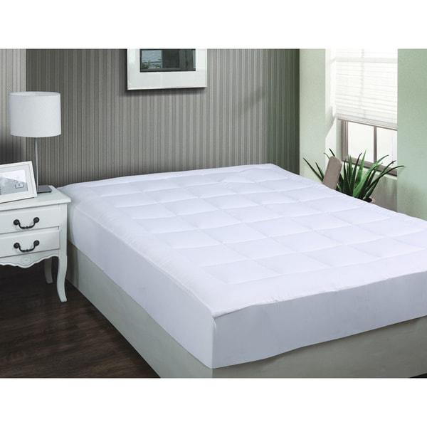 Luxurious Microplush Twin XL Pillow Top Mattress Pad