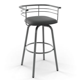 Amisco Turbo 26-inch Swivel Metal Counter Stool