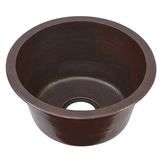 Sinkology Miro Bar-Prep 16-inch 0-hole Handmade Copper Sink