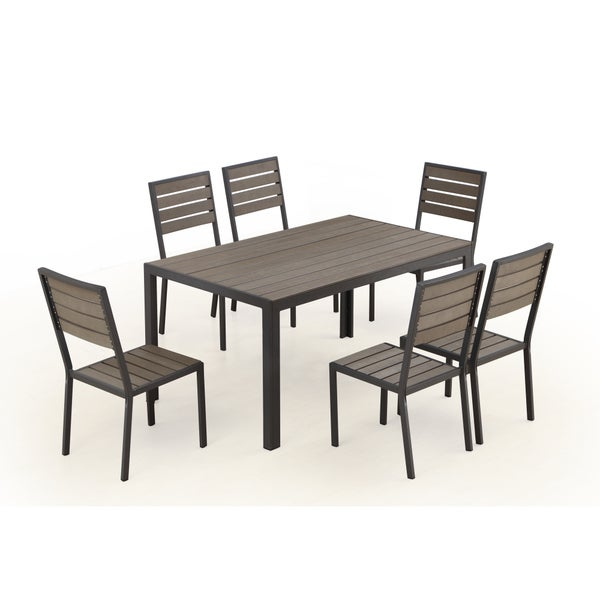 garden grove 7 piece patio dining set seats 6 images