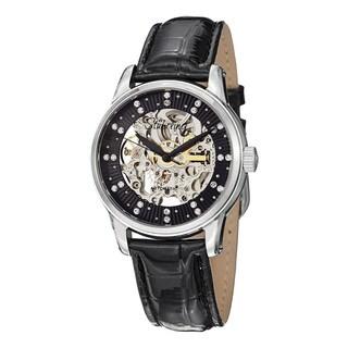 Stuhrling Original Women's Stella Automatic Swarovski Crystal Leather Strap Watch