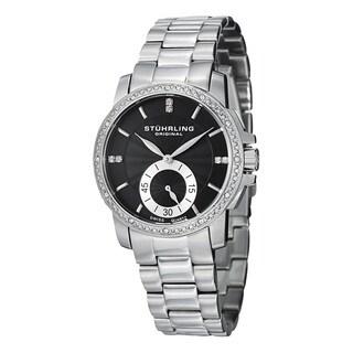Stuhrling Original Women's Lady Regency Swiss Quartz Swarovski Crystal Stainless Steel Bracelet Watch