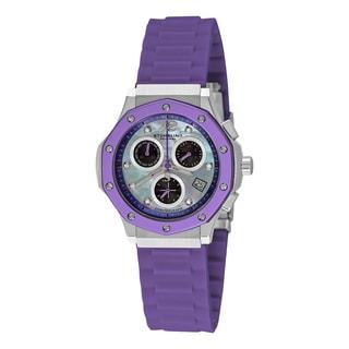 Stuhrling Original Women's Cosmo Girl Quartz Chronograph Rubber Strap Watch