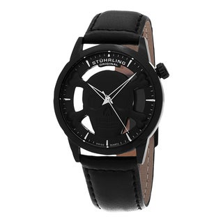 Stuhrling Original Men's Renegade Swiss Quartz Leather Strap Watch