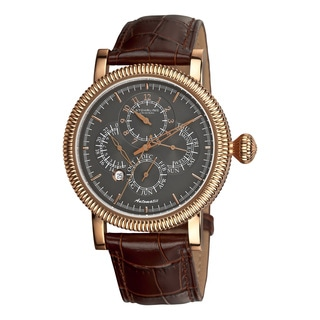 Stuhrling Original Men's TimeMaster Symphony II Automatic Leather Strap Watch