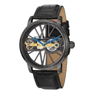 Stuhrling Original Men's Winchester Bridge Mechanical Leather Strap Watch