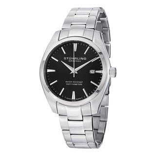 Stuhrling Original Men's Ascot Prime Swiss Quartz Stainless Steel Bracelet Watch