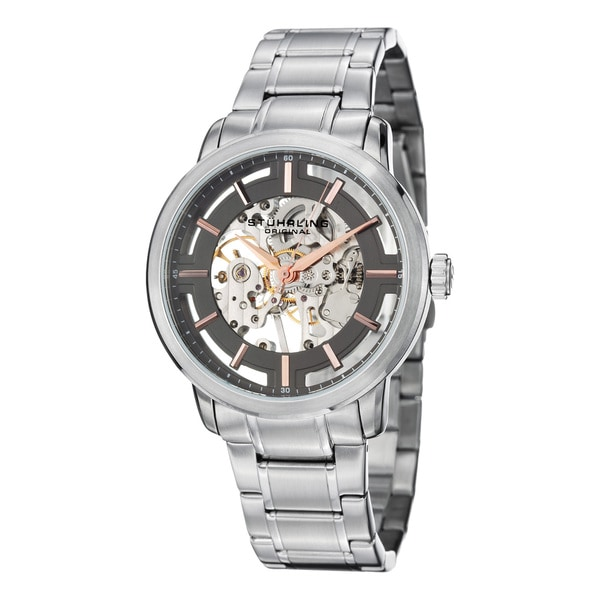 Stuhrling Original Men's Winchester Pro Mechanical Stainless Steel Bracelet Watch 15462349