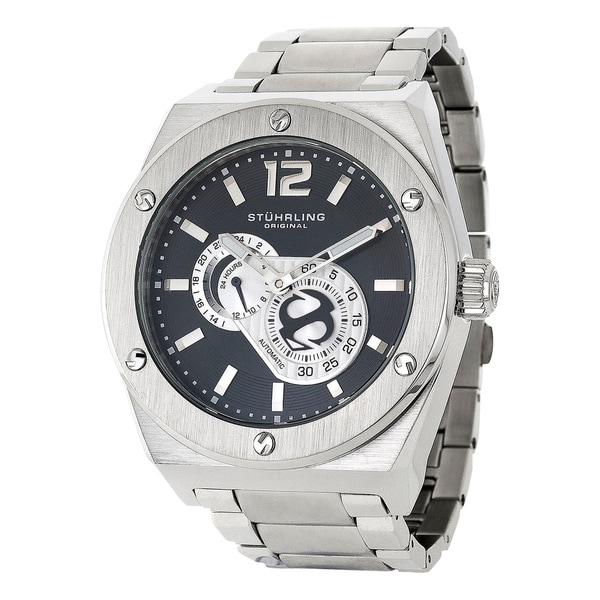Stuhrling Original Men's Esprit D'Vie Automatic Stainless Steel Bracelet Watch