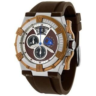 Stuhrling Original Men's Falcon Swiss Quartz Chronograph Rubber Strap Watch