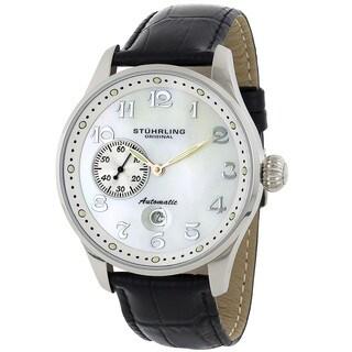 Stuhrling Original Men's Heritage Grand Automatic Leather Strap Watch